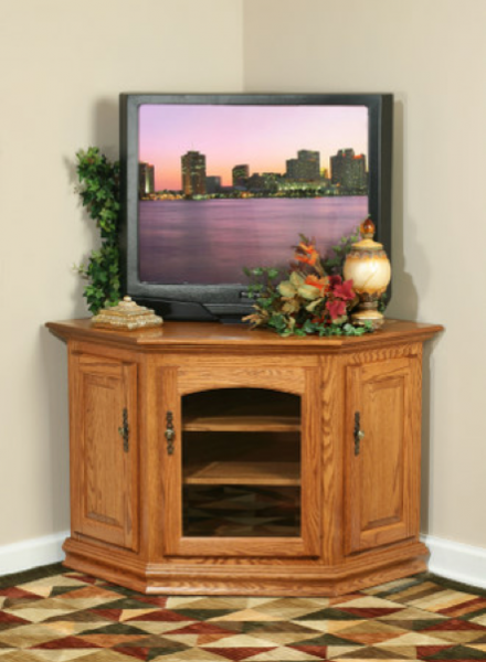 Small Space Check Out This Corner Tv Stand Swiss Valley Furniture