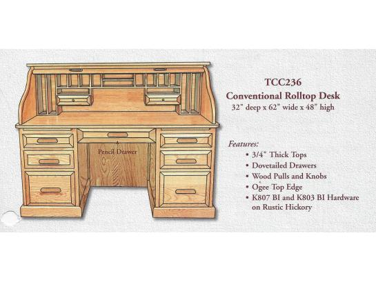 Sensational Roll Top Desk 62 Double Pedestal Swiss Valley Furniture Interior Design Ideas Clesiryabchikinfo
